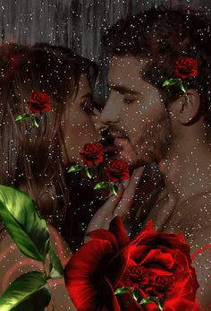 love roses are red Beautiful Love Pictures, Cute Love Images, Romantic Pictures, Love Heart Images, Love Couple Images, Couples In Love, Romantic Good Night, Romantic Gif, Romantic Couples