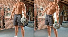 Lose Your Love Handles With the Dumbbell Side Bend....obviously not that excessive amount of weights for girls.. e