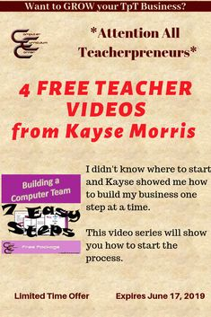 TIME SENSITIVE! Sign up for this free workshop series.  If you are a teacherpreneur it will change your life! This offer ends  June 17, 2019. (Affiliate link) #teachertraining #teacherworkshops #teacherspayteachers #freeteacherworkshops