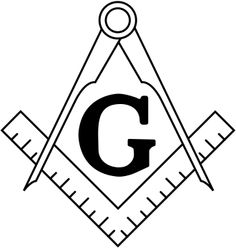 Standard image of masonic square and compasses