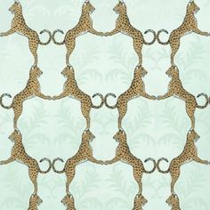 Cheetah Wallpaper - Aqua - $105/double roll - (I couldn't commit to having this pattern on my walls, but it does make smile)
