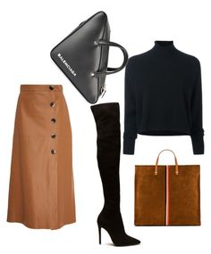 """fall"" by pandora3131 on Polyvore featuring Zeynep Arçay, Le Kasha, Clare V. and Balenciaga"