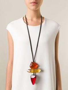 Long statement necklace. Love it!