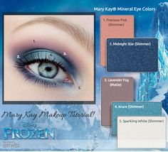 Frozen! Elsa! http://www.marykay.com/cherilynsmith message me for tutorial details #frozen #elsa #queen #letitgo #disney #marykay #makeup #tutorial