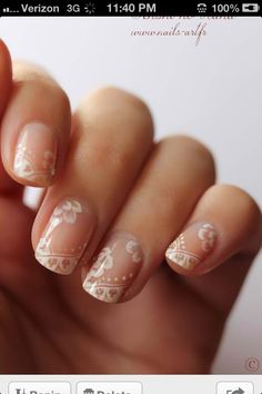 Lacy nails... i love this!!!