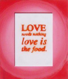 love is the food. di LoveCreating su DaWanda.com