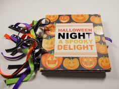 Halloween Mini Scrapbook Album, Halloween Scrapbook, Halloween Photo Album, Halloween Brag Book, 6x6,  Mini Album,  Halloween, premade album by HampshireRose on Etsy