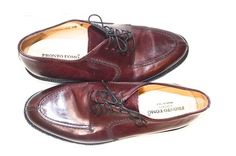 Pronto Uomo Burgundy /wine Flats SIZE 10 MENS DRESS SHOES MENS WAREHOUSE