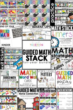 This resource is the ALL-IN-ONE Mega Bundle to run the Guided Math STACK structure in your classroom. It has all of the different bundles for the entire year for all of the components.