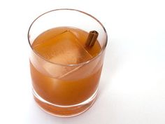 Vampire Blues | Serious Eats. Bourbon, sherry, lemon juice, simple syrup, pumpkin butter, Agnostura bitters, cinnamon stick garnish.