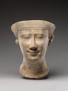 Incomplete female head Period: Late Period–Ptolemaic Period Date: 400–200 B.C.