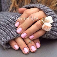 .@upcloseandstylish   Back to short nails and my favorite #Gelish color, number 408. #Dior roses r...   Webstagram