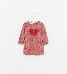 HEART PRINT KNIT DRESS from Zara