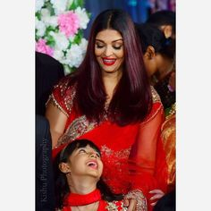 Bollywood actress Aishwary Rai Bachchan with her cute daughter in red Aishwarya Rai Photo, Aishwarya Rai Bachchan, Bollywood Heroine, Bollywood Actress, Bollywood Funny, Indian Wedding Wear, Indian Wear, World Most Beautiful Woman, Beauty Full Girl