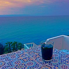 Moroccan whiskey with a view of where the Atlantic meets the Mediterranean. My favorite spot in the world @ Café Hafa - Tangier / Morocco © @Othman Ouajir