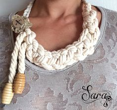 A personal favorite from my Etsy shop https://www.etsy.com/listing/235637365/nautical-necklace-cotton-rope-necklace
