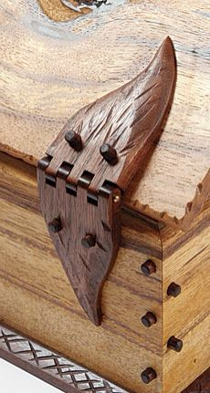 This is a true work of art! The detailing on this hand made wooden hinge is absolutely awesome. But the best thing about it? ....seeing it, and fashioning it in your mind first.