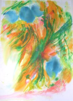 Cocooned 1 Watercolour Inks on paper Follostatin11 reacting with heart cell molecules