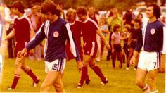 Aber schon am 12. Juli stand der nächste Höhepunkt an. Einmarsch zum Spiel zwischen dem MTV Diessen und den FC Bayern Fohlen.