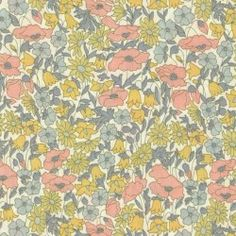 Tissu Liberty of London Poppy and Daisy vintage 4095H tana lawn EXCLU