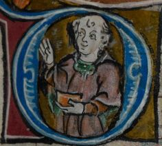 Detail from medieval manuscript, British Library Stowe MS 17 'The Maastricht Hours', f55r