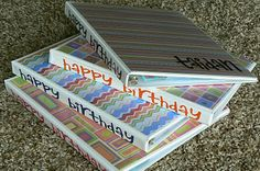 Birthday Binders -- include yearly birthday interview; list of things family members like about the person, etc.