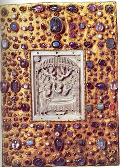 Cover of the Gospel Book of Otto III (with tenth-century Byzantine ivory panel) c. 1000    The crossing of cultures (Western/Latin and Eastern/Byzantine)