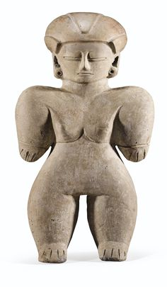 FIGURE ANTHROPOMORPHE  CULTURE CHORRERA  EQUATEUR  800-400 AV. J.-C.  CHORRERA ANTHROPOMORPHIC FIGURE, ECUADOR