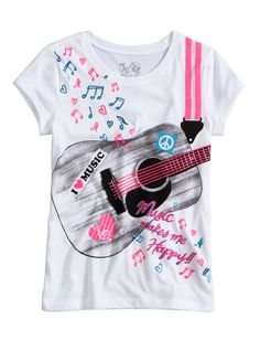 Guitar Tee | Peace Love & Justice | Graphic Tees | Shop Justice