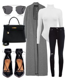Sem título #241 by justfash on Polyvore featuring polyvore fashion style Haider Ackermann Closed Aquazzura Hermès Christian Dior clothing