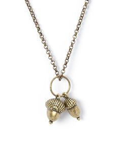 Look what I found on #zulily! Gold Acorn Pendant Necklace #zulilyfinds