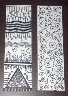 Zentangle Bookmarks 2 by phatelara, via Flickr