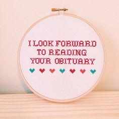 30 Rock Read your obituary 6 cross stitch by CrossKitch on Etsy