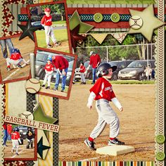 .scrapbook  page baseball forever layout. I can't wait to make one for my grandson Zephryn. awp