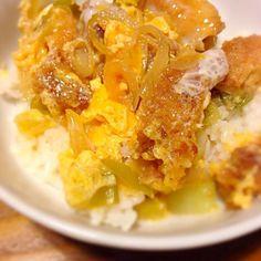 お歳暮で届いた鮑の姿煮の煮汁を再利用(๑❛ัᴗ❛ั๑) ♬ めちゃ美味しく出来ましたァ! - 5件のもぐもぐ - チキンカツ丼 by sakutae