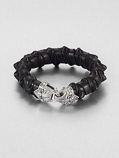 Scott Kay Spike Leather Bracelet #Saks #givingsaks