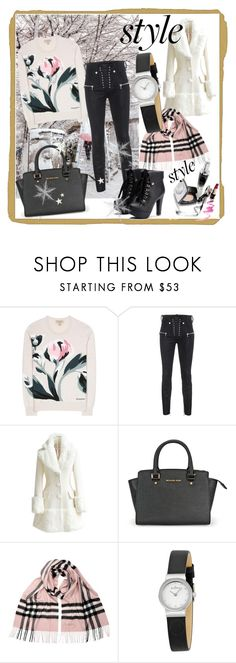 """Winter charms"" by zina-lami ❤ liked on Polyvore featuring Shibuya, Burberry, Unravel, WithChic and Skagen"