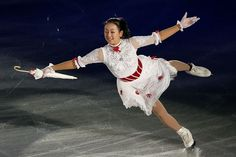 RIFU, JAPAN - NOVEMBER 25: Mao Asada of Japan performs in the Gala Exhibition during day three of the ISU Grand Prix of Figure Skating NHK Trophy at Sekisui Heim Super Arena on November 25, 2012 in Rifu, Japan.