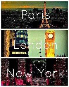 From london to paris and paris to new york