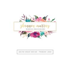 Premade Logo Watercolor Logo Predesigned by ArlyneGraceDesign More