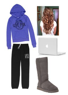 Untitled #177 by sofimore2013 on Polyvore featuring Victoria's Secret PINK and UGG Australia