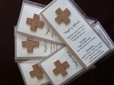 Bolos para primera comunion  Cruz de corcho