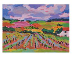 Beaujolais Region by Jessie Mackay #landscape #art #print #vineyard #france