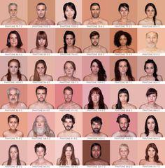 pantone skin color spectrum: humanae by angelica dass - http://www.designboom.com/weblog