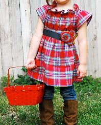 Tutorial: Pear Picking shirred tunic top for little girls · Sewing | CraftGossip.com