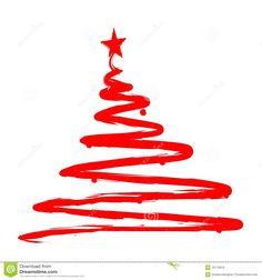 painted-christmas-tree-illustration-16175810.jpg (1300×1390)