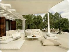 Outdoor lounge perfect for relaxing.
