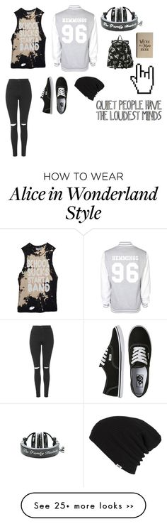 """School uniform tag"" by kirkland2001 on Polyvore featuring Topshop and Vans"