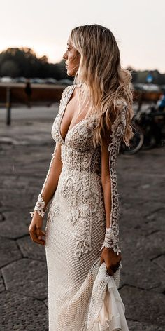 21 Illusion Long Sleeve Wedding Dresses You'll Like Choosing a wedding dress? There are many variations of different dresses, but one of the best is illusion long sleeve wedding dresses. Wedding Dress Sleeves, Long Wedding Dresses, Bridal Dresses, Wedding Dress Sheath, Bohemian Wedding Dresses, Lace Dresses, Couture Wedding Dresses, Champagne Lace Wedding Dress, Destination Wedding Dresses