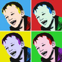 Andy Warhol Pop Art Paintings | Andy Warhol style canvas
